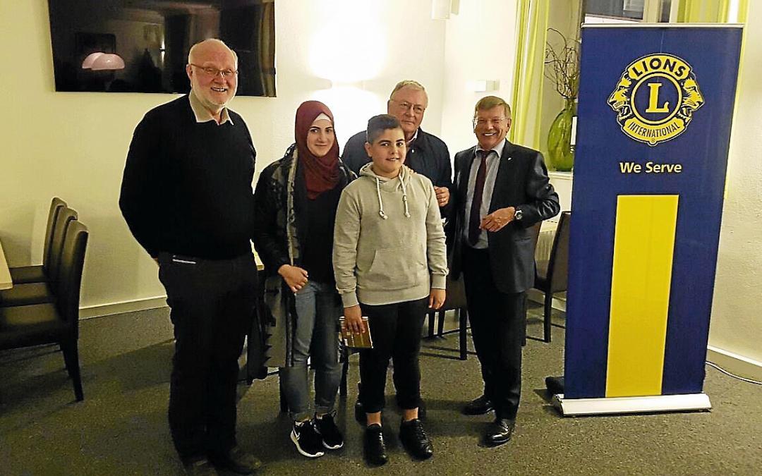 Unterstützung für Sprachkurse durch Lions Club Schönbuch