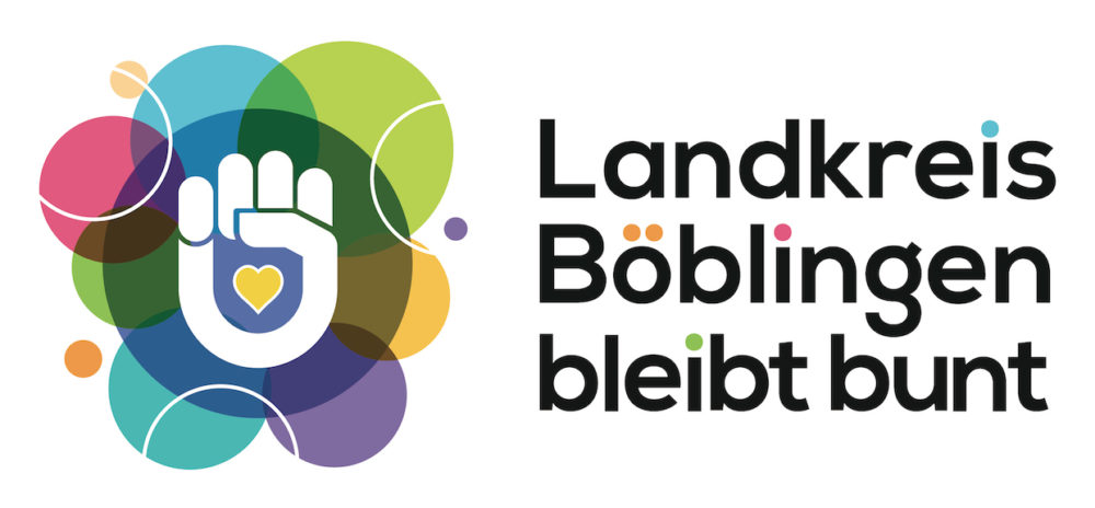 """Wir unterstützen die Initiative für Vielfalt und Weltoffenheit """"Landkreis Böblingen bleibt bunt"""""""