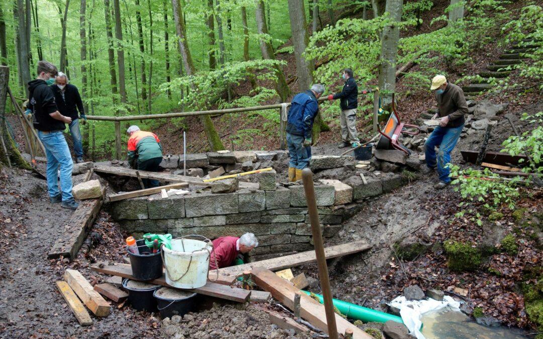 Baustelle am Klingenstäffele – gute Zusammenarbeit baut Brücken